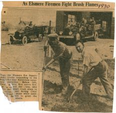 1930 newspaper elsmere brush fire circa 1930 front